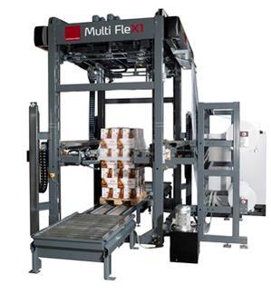 Flexible Haubenstretch Paletten Verpackungsmaschine
